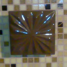 Аплик керамичен с апликация от стъклокерамика, ръчна изработка