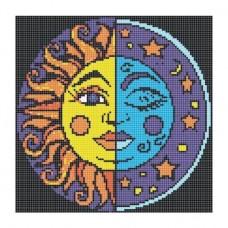 Стъклокерамична фигура sun moon 231x231см