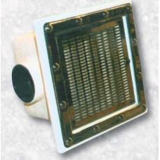 Сифон за фолио 250х250 решетка инокс ф110