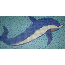 Стъклокерамична фигура Делфин T25