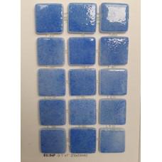 Мозайка стъклена Аквамарин тъмен 2.5 х 2.5 см