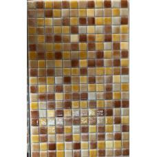 Мозайка стъклена микс Карамел светъл 2.5 х 2.5 см