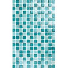 Мозайка стъклена микс Тюркоаз 2.5 х 2.5 см