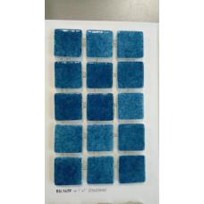 Мозайка стъклена Синьо капри 2.5 х 2.5 см