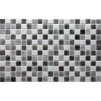 Мозайка стъклена микс Бяло-черно 2.5 х 2.5 см