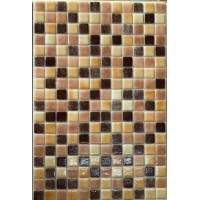 Мозайка стъклена микс Карамел тъмен 2.5 х 2.5 см