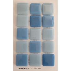 Мозайка стъклена микс Син 2.5 х 2.5 см