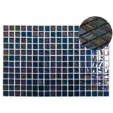 Мозайка стъклена черна, Opalo Negro 2.5x2.5 cm