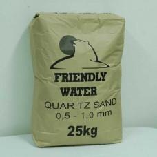 Пясък кварцов Friendly Water ситна фракция 0.5-1.0мм