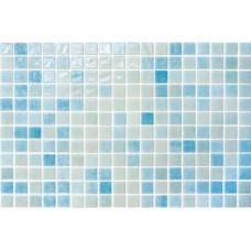 Мозайка стъклена, микс светлосин Aqua 2.5х2.5 cm