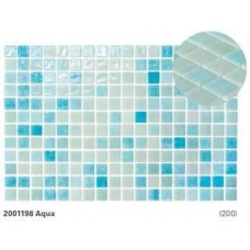 Стъклена мозайка микс  Aqua 2.5x2.5