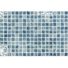 Мозайка стъклена, микс Paraiba 2.5x2.5 cm