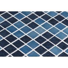 Мозайка стъклена, микс тъмносин Boracay 2.5x2.5 cm