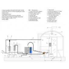 Парогенератор професионален 6,63 kW 3x400V в комплект температурен датчик, модел MC2 8