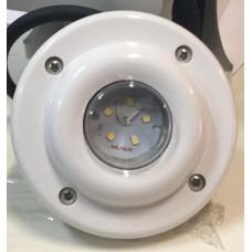 Прожектор диоден мини, 5 LED, 5W12V, ABS бял