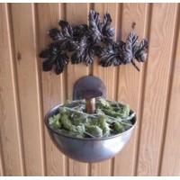 Медна купа за билки, хилайска сол и аромати за сауна