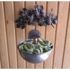 Медна купа за билки, хималайска сол и аромати за сауна