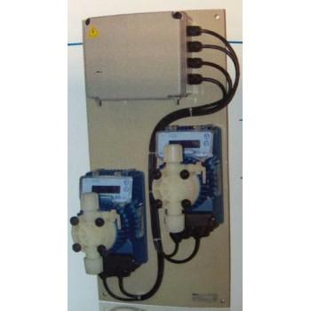Система дозаторна за басейни до 500 м3 за рН и хлор с помпи