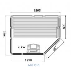 Сауна Tylo Impression, модулна, 1895x1495х2090 mm, 6 kW
