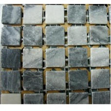 Камъчета естествени, 15х15x4 мм сиви
