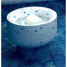 Капачка за фонтан керамична бяла