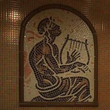 "Стъклокерамична мозайка ""Златен Орфей"" - 80х100см."