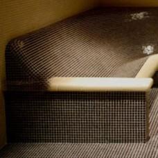 Облицовка керамична за подлакътник прав за пейка почивка -цял (двоен)