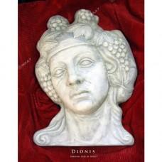 Глава гипсова Дионис, сивобяла