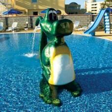 Фигура крокодил-изправен от стъклопласт