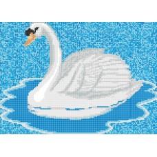 Стъклокерамична фигура бял лебед 330х235см
