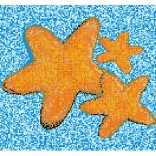 Стъклокерамична фигура морска звезда 3 бр. 297х297см