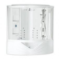 Парна кабина Dafne Duo, версия 1, бяла,  хром