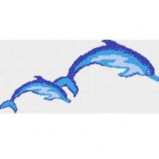 Стъклокерамична фигура делфини 91