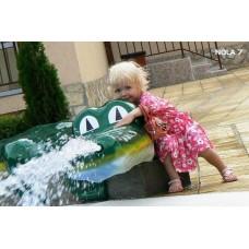 Фигура крокодил от стъклопласт