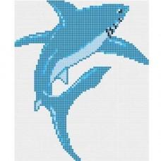 Стъклокерамична фигура акула