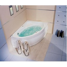 Хидромасажна вана Europe 165, система Titanium Sport, бяла, хром, дясна