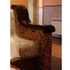 Облицовка керамична за подлакътник висок за пейка наклонена, анатомична и т.баня цял (двоен)