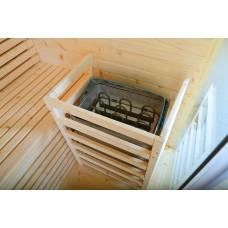 Сауна суха, готова кабина от бял бор, за 2-ма човека, 150х150х200 см