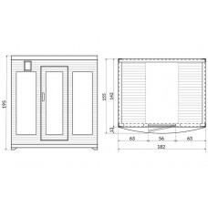 Инфраред кабина, модулна, 4 места, 182х142х195 cm